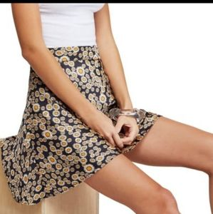 Free People Phoebe Daisy Print Mini Skirt